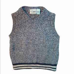 ✨3 for $30✨New Navy Blue Knit Sweater Vest 18-24M